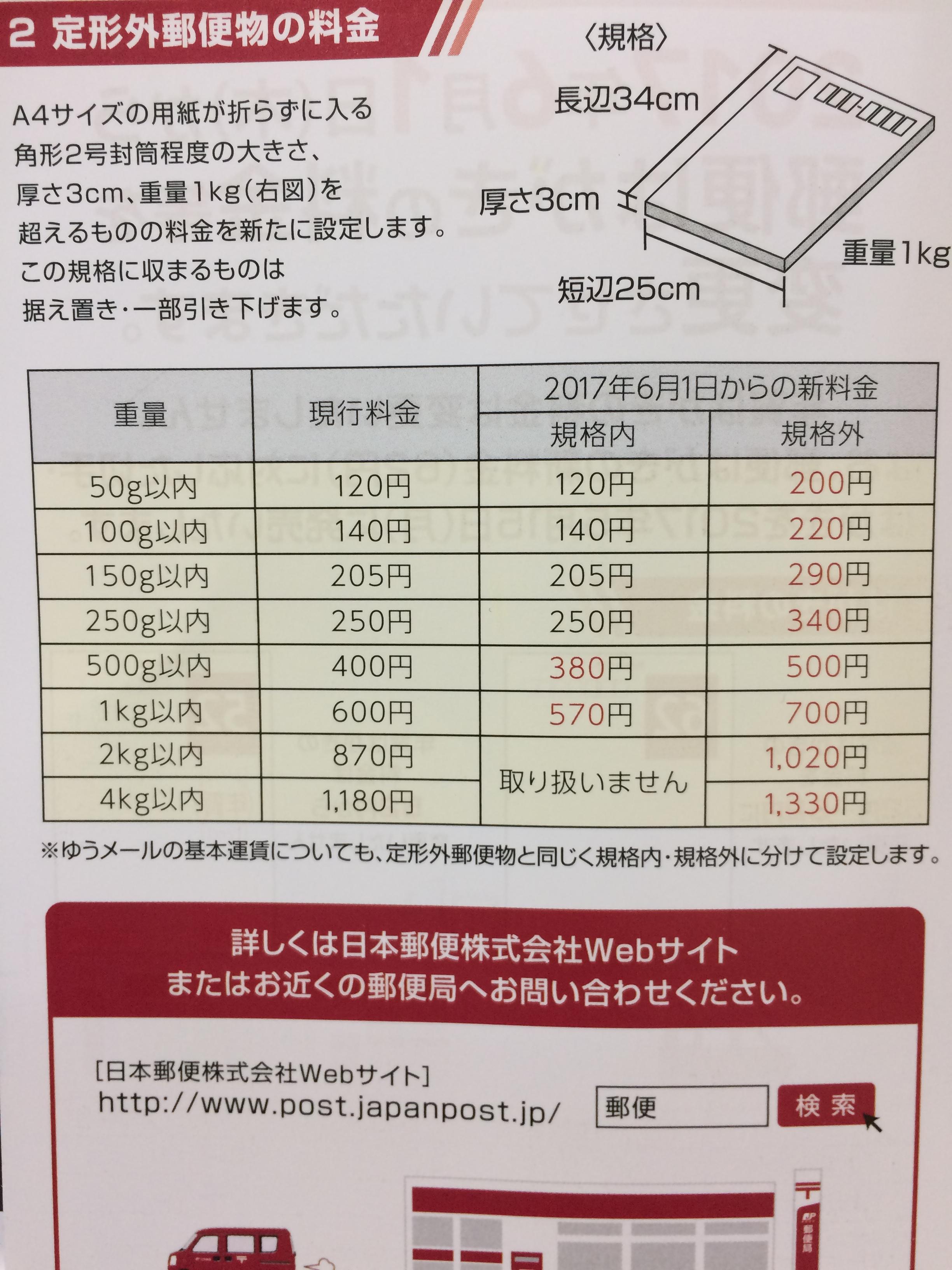 値段 郵便